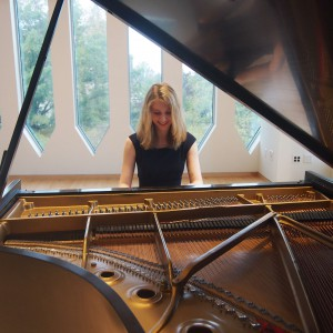 Kendall Kelly, Pianist, At The Piano, Oberlin Conservatory